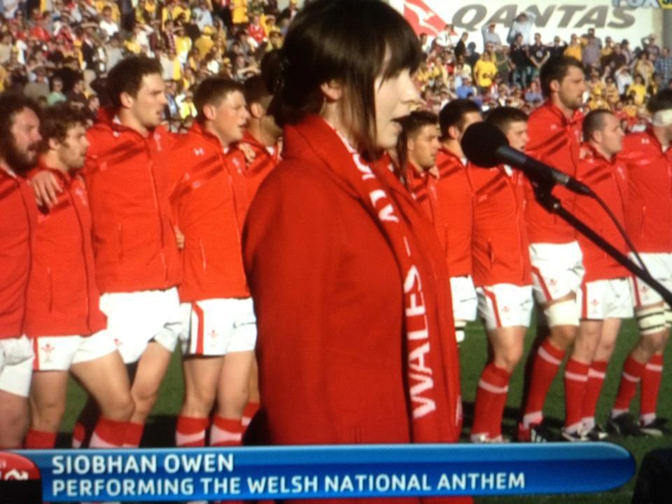 Welsh anthem singer