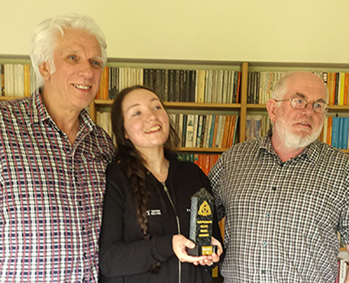 L-R: Ian Lawson, Siobhan Owen and Ben Heneghan with the Producers of the Year award